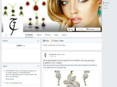 Social media for Online Jewellery store