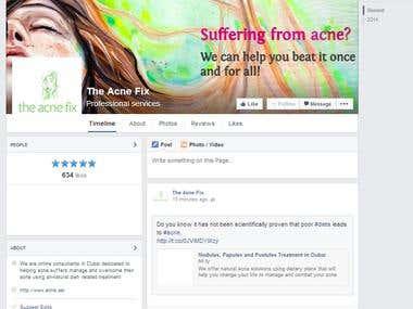 Social Media Marketing for Skincare Company