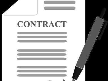 General forms of contractual employment and NDA.
