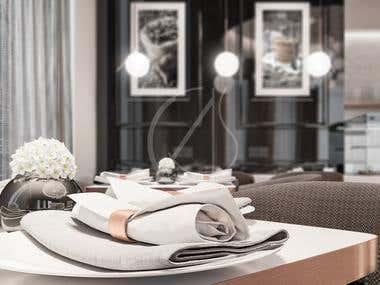 Montana French Café Interior Design