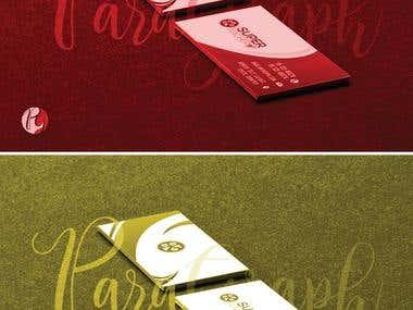 Modern business card presentation