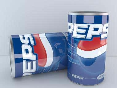 Pepsi Can - 3D Modeling