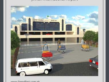 Jinnah International Airport - Model - Render - Animation