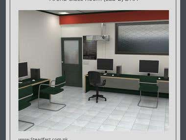 Arena Class Room - 3D Modeling - Rendering - Animation