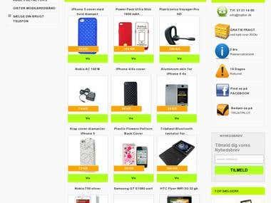 Mobile accesories webstore
