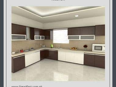 Kitchen - 3D Modeling - Rendering - Animation