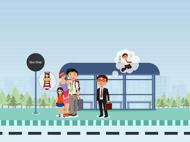 Illustration for Busstation