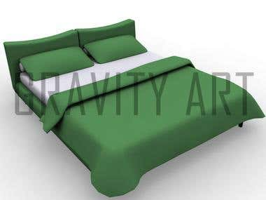 3D Modeling Furniture Beds