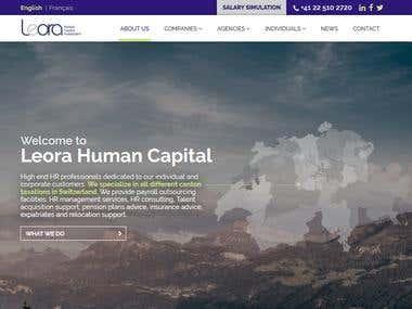 Design and Development of leorahc.com