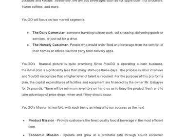 YouGO Coffee Kiosk- Business Plan