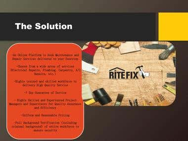 RiteFix- Investor Pitch Deck