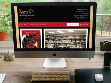Primo Wine and Liquor website - magento 1.9