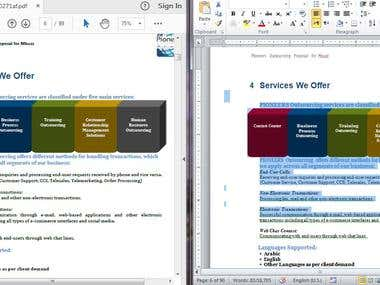 Word to PDF Transcription