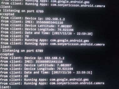 Android app to send details to a server