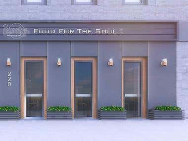 Fast food exterior design