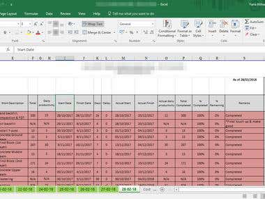 Data Entry & Data Processing (Excel)