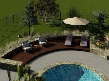 Pool Landscape design in USA