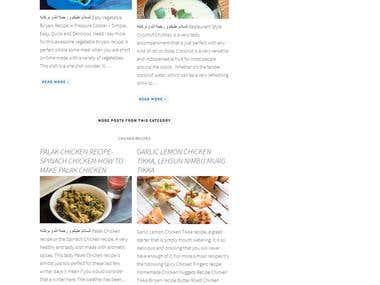A blog website for RECIPES