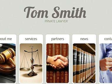 Tom Smith Private Practive Lawyer, Full Flash website