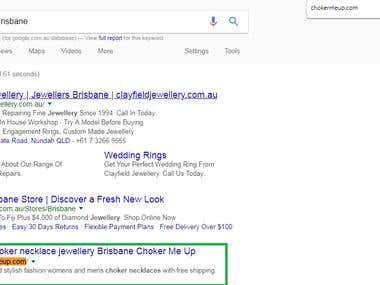 First Position on Google.com.au