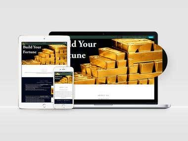 Gold Premium MLM Marketing Website