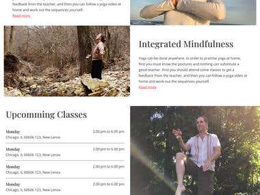 PSD to WordPress - yoga site