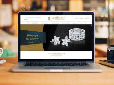 Kohinoor Diamond & Gems - Website Design & Development