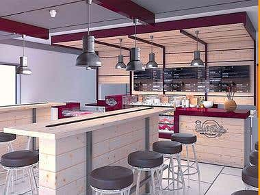 Fast food interior design