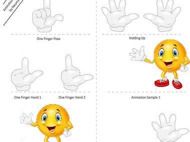 2D Animation and Illustration of Hand Poses
