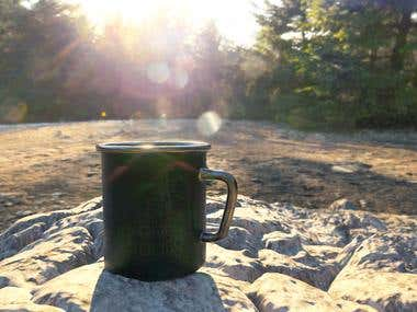 Coffee and camping.