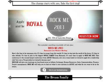 Rock Me 2013 Site Design