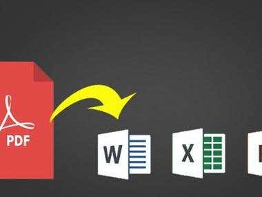 PDF to Word, Excel And Powerpoint