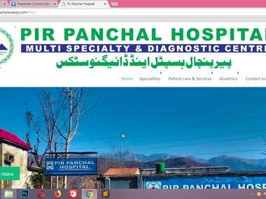 Hospital Website Designed in Wordpress