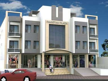 exterior designing of plaza
