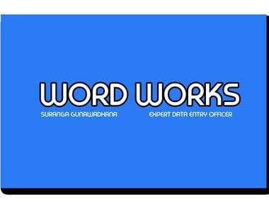 WORD WORK/TYPING WORK