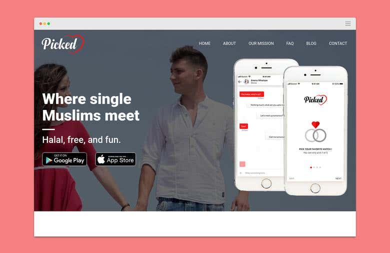 Picked Dating App Landing Page | Freelancer