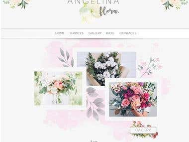 Floral Website - Very inspiring and tenderness project