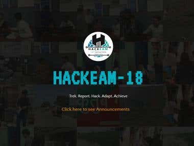 HACKEAM'18 | WEBSITE