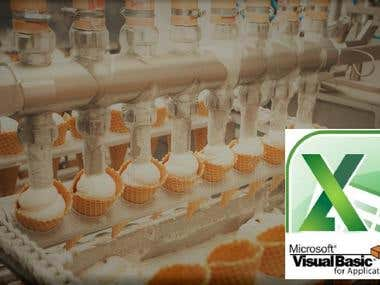Dairy Company Production Maintenance Software In VBA