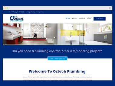 OzTech Plumbing WordPress Website