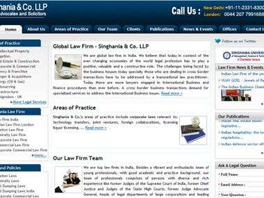 Singhania.com for law firm website