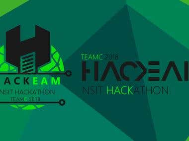 TEAMC & HACKEAM 2018 | GRAPHIC DESIGNING