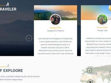 Travel package site