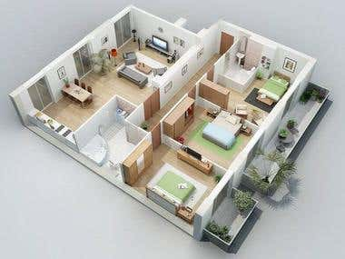 3d Floor Plan Modeling and Rendering...