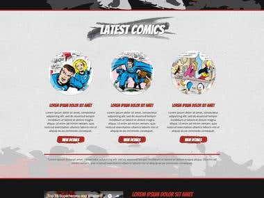 Comic based bootstrap design