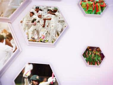 Bangladesh VS South Africa Cricket Series Sting