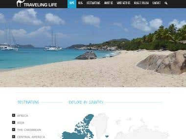 Travel Blog Design / Development