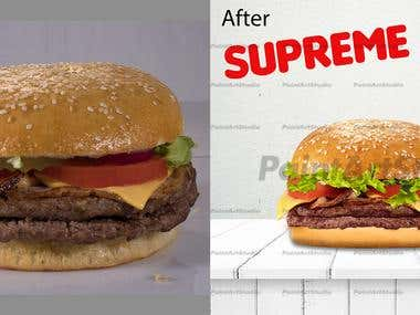 Fast food retouching