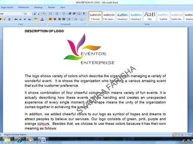 LOGO DESIGN AND DESCRIPTION