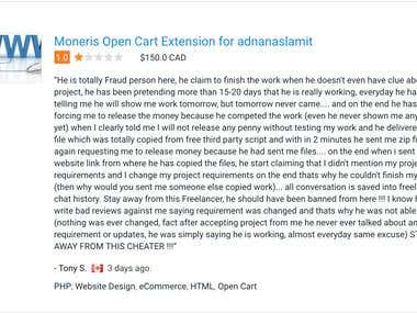 Moneris Open Cart Extension for adnanaslamit